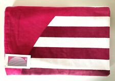 "LACOSTE Large Bath Beach Towel 36""x 73"" (91cm x185cm) Pink Red White Wine Stripe"