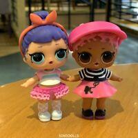 Lot 2 Lol Surprise Dolls Confetti Pop SHORT STOP & Midnight L.O.L toy Real