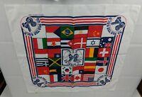 Vintage 1984 USA Olympics Bandana Handkerchief Scarf Go For The Gold