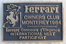 Rare Vintage Ferrari Owners Club Monterey 1984 Belt Buckle International Meet