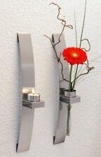 Portacandele e portalumini argento in vetro per la decorazione della casa