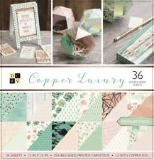 "Scrapbook Paper Pad 12"" x 12"" - DCWV -Copper Luxury"