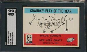 1965 PHILADELPHIA #56 TOM LANDRY DALLAS COWBOYS PLAY CARD SGC 8 NM-MT (JL/SG)