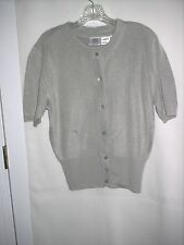 SWEATER SET/SKIRT – size 8 – by MADELEINE – SILVERY GRAY - NWT