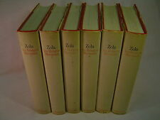 Émile Zola LES ROUGON-MACQUART, Complete SIX-volume set, 1969-70 SCARCE!