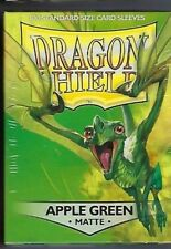 Dragon Shield Matte Apple Green (100) Shield Sleeves Free Shipping