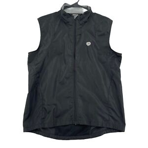 Pearl Izumi Men's Size L Mesh Back Full Zip Front Cycling Vest Black Reflective