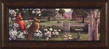 COUNTRY MUSIC by Kim Norlien 12x28 FRAMED PRINT PICTURE Song Birds Cardinals