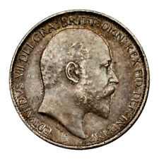 1907 Great Britain 6 Pence Silver Coin (Extra Fine, XF Condition) KM# 799
