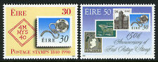 Ireland 803-804, MNH. Penny Black, 150th anniv. Stamp on stamp, 1990