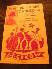 Partitura Drôle de guitarra Danza de La AT Fernand Cekow André 1955