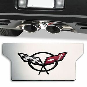 1997-2004 C5 Corvette Stainless Exhaust Plate Exclusive Large Premium Version