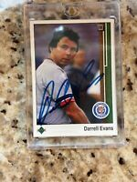 Darrell Evans AUTO Detroit Tigers Autograph Signed In Person 30 Years Ago