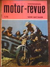 Tschechoslowakische MOTOR REVUE  7 - 1975 Moto Cross-WM Jawa Cross-Sittendorf