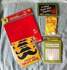 Lot Of Teacher Classroom Supplies (9) Items Letters-Charts-Postcards- More