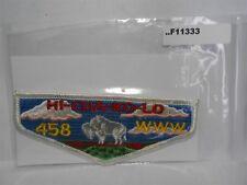 HI-CHA-KO-LO LODGE 458  OLDER FLAP F11333
