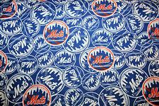 NEW YORK METS  MLB 1/2 YARD 18X60 -  100% COTTON FABRIC