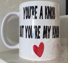 X2 You're A Knob But You're My Knob DIY Vinyl Mug Decal Sticker Valentines Gift