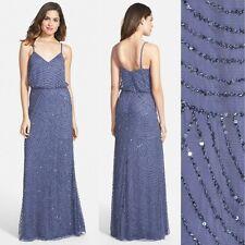 NWT! Adrianna Papell Embellished Blouson Gown Dark Heather [SZ: 2 4 14 16] #M190