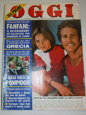 Oggi Vintage Italian Magazine Ryan O' Neil Tatum O' Neil April 1974 021715R