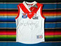 ✺Signed✺ ADAM GOODES Swans AFL Heritage Guernsey COA Sydney Jersey Jumper 2020