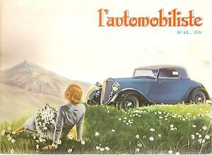 L'AUTOMOBILISTE 45 FORD V8 1932+ RUMPLER 1921 1924 NEW MOTORCYCLE & MAJESTIC