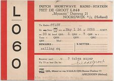 L060 QSL Radio Card Holland 1936 Netherland - Piet de Groot Noorfwijk to CT1CV