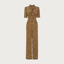 L.K.Bennett Marmont Leopard Silk Jumpsuit