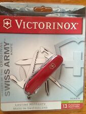 VICTORINOX HIKER RED COMPOSITION HANDLE SWISS ARMY KNIFE NEW