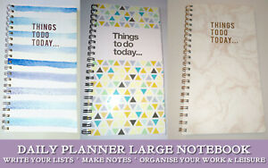 """THINGS TO DO TODAY... LARGE PLANNER WIRO NOTEBOOK Date List Notes Priorities 11"""""""