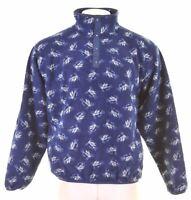 L.L.BEAN Mens Fleece Jumper Sweater Large Blue Nautical Polyester 9. JO03