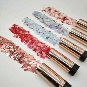 3 PACK Rose Gold Small 11cm Flower Confetti Party Cannons Wedding Celebrations