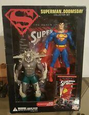 "Dc universe Death of Superman ACTION FIGURES DOOMSDAY VS SUPERMAN COMIC PROMO 7"""