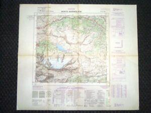 Grande carta topografica Monte Marmolada Ghiacciaio Dolomiti Dettagliata IGM
