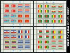 Dealer Dave United Nations Stamps 1980 Flag Series Sheets #325-340, Mnh