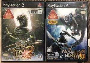 PS2 Monster Hunter 2 DOS & G game set Japan