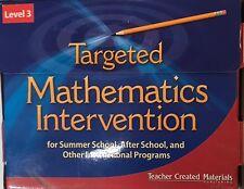 Targeted Mathematics Intervention Level 3 Kit Teacher Created Materials TCM11129