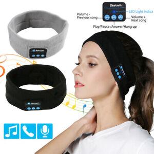Wireless Bluetooth Music Stereo Sleep Headband Headset Fitness Sport Headphones