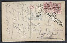Dalmatia covers 1919 censored PPC Nicosia