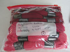 Vintage DMC Taperstry 100% Wool Burgandy Raspberry Pink 23pc
