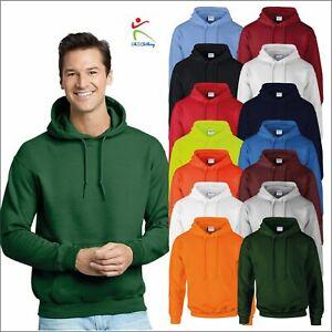 Gildan Dry Blend Pullover Hoodie Adult Hooded Sweatshirt Classic Casual Jumper