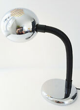LAMPE DE TABLE PASTILLE EN CHROME 1970 VINTAGE SPACE AGE POP 70S ANNEES 70