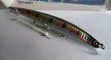 Noeby leurre pêche mer rivière 14,5cm 19g nage jusqu'à 0,5m vertdâtre gris holo