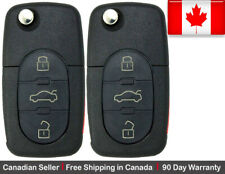 2 New Replacement Remote Key Fob 3 Button For Volkswagen.**Read Description**