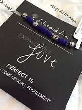 Alex and Ani Expandable Love Perfect 10 Blue Beaded Adjustable Silk Bracelet
