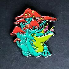 Frog Mushrooms Psychedelic Pin Broach Button Toad #Lcps