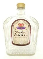 Crown Royal Vanilla 750ml Empty Bottle Mint Condition Collectible Craft