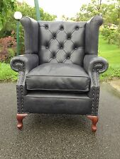 Leather Reproduction CEO Chesterfield Lounge Chair set Australian Manufactured