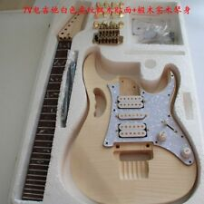 unfinished DIY Electric Guitar Kit Bolt-On Neck Solid wood Body Monkey Grip