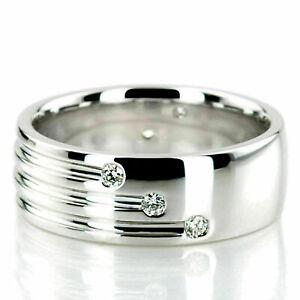1.6 Ct Diamond Breathtaking Engagement & Wedding Men's Band Ring 14K White Gold